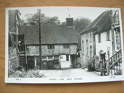 Vintage Postcard - Church Lane - West Wycombe - Buckinghamshire