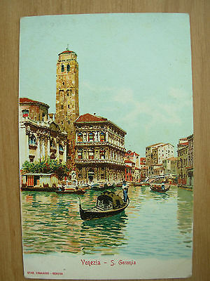 Vintage Postcard Size Advertising Card Of Venezia Italy By Loeflund's Germany 1