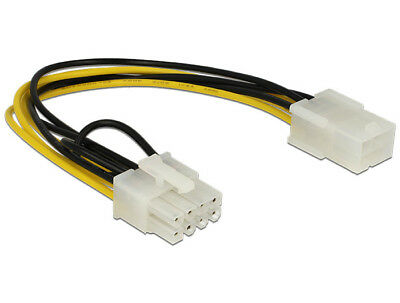 Delock Power Cable PCI Express 6 pin female > 8 pin male 18 AWG 20cm convert 6>8