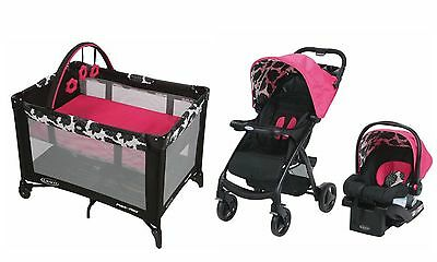 Graco Baby Stroller with Car Seat Infant Playard Travel System Combo Set