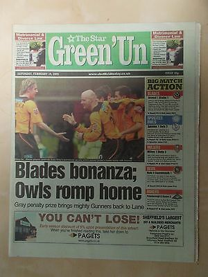 VINTAGE NEWSPAPER STAR GREEN-UN FEBRUARY 19th 2005 OWLS ROMP HOME