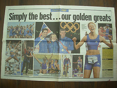 VINTAGE NEWSPAPER DAILY MAIL OCTOBER 2nd 2000 OUR GOLDEN GREATS - OLYMPIC GAMES