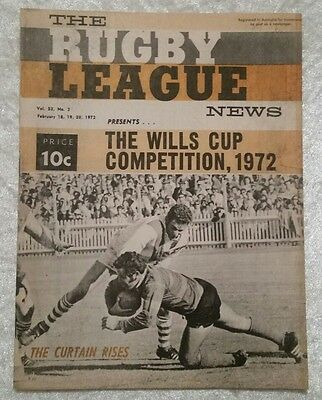 The Rugby League News Feb 1972 Wills Competition Vol 53 No 3 Australian ERROR