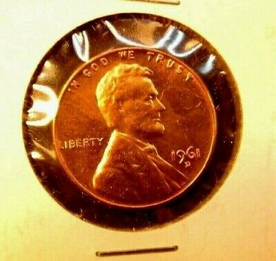 1961 - D   Lincoln  Memorial  Cent  BU    Red    Nice  US  Coin combined shippin