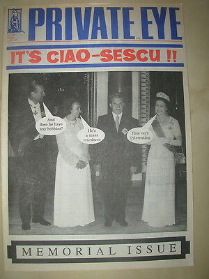 PRIVATE EYE MAGAZINE No 732 JANUARY 5 1990 CIAO-SESCU MEMORIAL ISSUE
