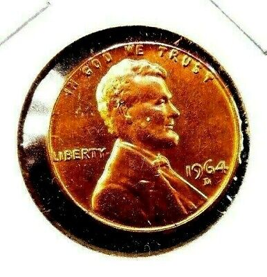 1964 - D  Lincoln  Memorial  Cent  BU    Red  Nice  US  Coin  Combined  Shipping