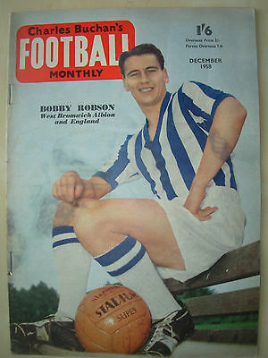 Football Monthly Magazine December 1958 Leeds United - Bobby Robson - Rangers