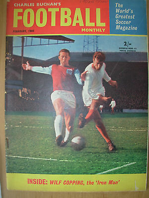 Football Monthly Magazine February 1965 West Brom - Everton - Glasgow Rangers