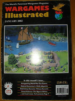 WARGAMES ILLUSTRATED No 172 JANUARY 2002 KRIEGSPIELING WORLD WAR TWO GAMES