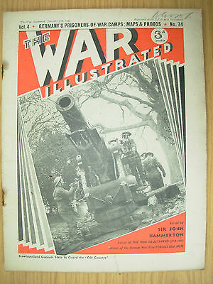WAR ILLUSTRATED MAG No 74 JANUARY 31st 1941 NEWFOUNDLAND GUNNERS IN ACTION