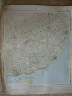 FORFAR LARGE OS WALL MAP 1in LINEN BACKED 1959