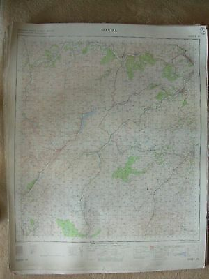 SELKIRK LARGE OS WALL MAP 1in LINEN BACKED 1964