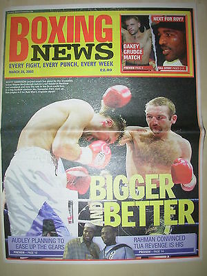 BOXING NEWS 28 MARCH 2003 SCOTT HARRISON DEFEATS WAYNE McCULLOUGH