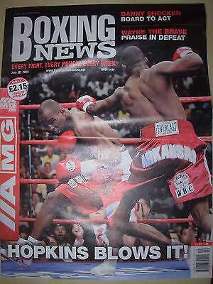Boxing News 22 July 2005 Jermain Taylor Defeats Bernard Hopkins