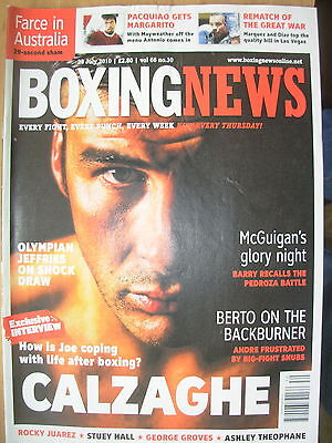 Boxing News 29 July 2010 Interview With Joe Calzaghe