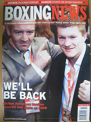 Boxing News 21 December 2007 Defiant Ricky Hatton Will Be Back