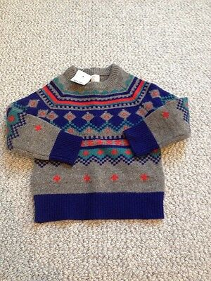 Crewcuts Boys Wool Sweater Size 2 Toddler Nwt