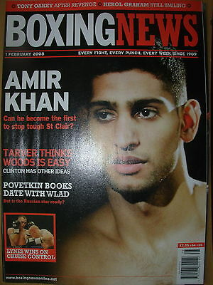 BOXING NEWS 1 FEBRUARY 2008 AMIR KHAN v GARY ST CLAIR FIGHT PREVIEW