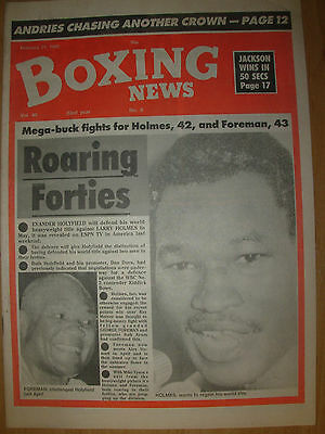Boxing News February 21 1992 Evander Holyfield To Fight George Foreman
