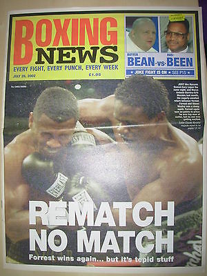 Boxing News 26 July 2002 Vernon Forrest Defeats Shane Mosley