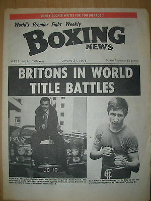 BOXING NEWS JANUARY 24 1975 JOHN CONTEH v LONNIE BENNETT - FIGHT PREVIEW