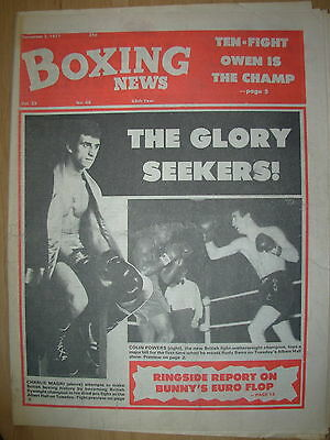 BOXING NEWS DECEMBER 2 1977 CHARLIE MAGRI v DAVE SMITH - FIGHT PREVIEW