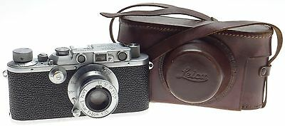 LEICA III EXCELLENT WORKING RANGEFINDER 35mm FILM CAMERA LEITZ ELMAR 1:3.5/50mm