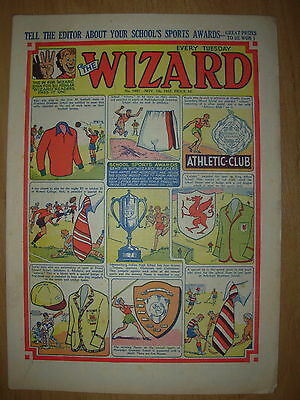VINTAGE BOYS COMIC THE WIZARD No 1447 NOVEMBER 7th 1953