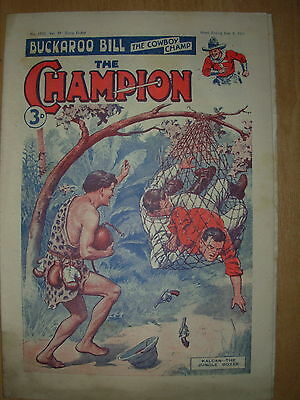 VINTAGE BOYS COMIC THE CHAMPION No 1532 JUNE 9th 1951