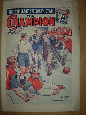 VINTAGE BOYS COMIC THE CHAMPION No 1570 MARCH 1st 1952