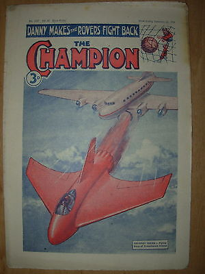 VINTAGE BOYS COMIC THE CHAMPION No 1547 SEPTEMBER 22nd 1951