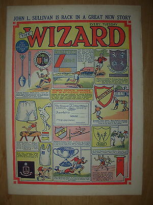 VINTAGE BOYS COMIC THE WIZARD No 1405 JANUARY 17th 1953