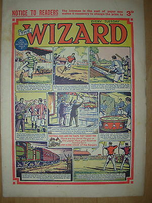 VINTAGE BOYS COMIC THE WIZARD No 1336 SEPTEMBER 22nd 1951