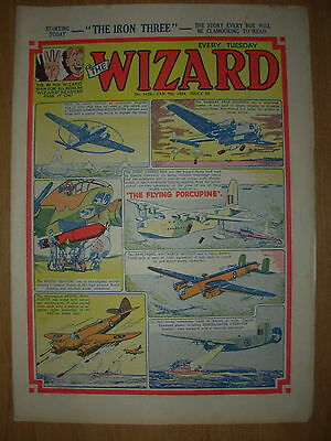 VINTAGE BOYS COMIC THE WIZARD No 1456 JANUARY 9th 1954