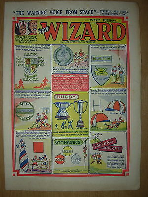 VINTAGE BOYS COMIC THE WIZARD No 1470 APRIL 17th 1954