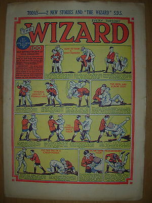 VINTAGE BOYS COMIC THE WIZARD No 1417 APRIL 11th 1953