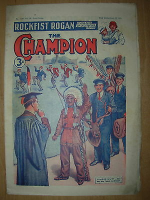 VINTAGE BOYS COMIC THE CHAMPION No 1534 JUNE 23rd 1951