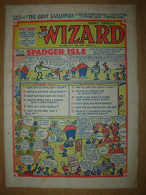 VINTAGE BOYS COMIC THE WIZARD No 1500 NOVEMBER 13th 1954