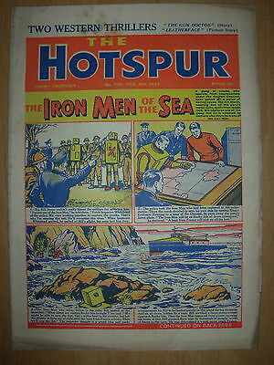 VINTAGE BOYS COMIC THE HOTSPUR No 796 FEBRUARY 9th 1952