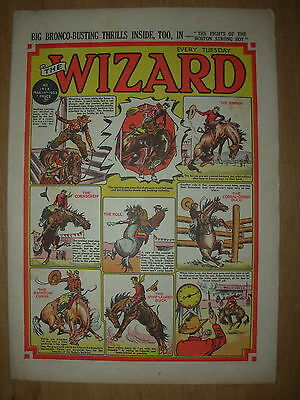 VINTAGE BOYS COMIC THE WIZARD No 1413 MARCH 14th 1953