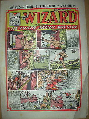 VINTAGE BOYS COMIC THE WIZARD No 1496 OCTOBER 16th 1954