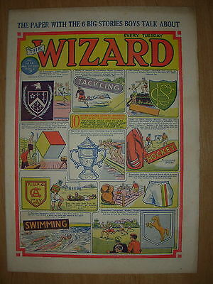 VINTAGE BOYS COMIC THE WIZARD No 1414 MARCH 21st 1953