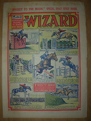 VINTAGE BOYS COMIC THE WIZARD No 1483 JULY 17th 1954