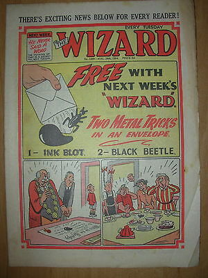 VINTAGE BOYS COMIC THE WIZARD No 1489 AUGUST 28th 1954