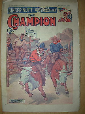 VINTAGE BOYS COMIC THE CHAMPION No 1527 MAY 5th 1951