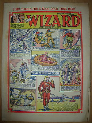 VINTAGE BOYS COMIC THE WIZARD No 1479 JUNE 19th 1954