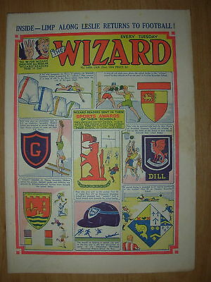 VINTAGE BOYS COMIC THE WIZARD No 1458 JANUARY 23rd 1954