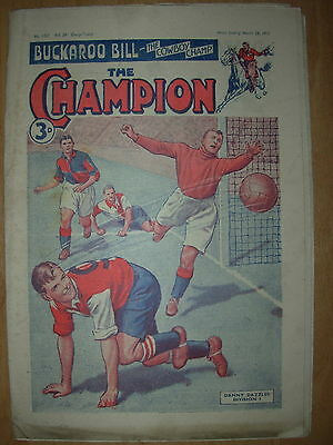 VINTAGE BOYS COMIC THE CHAMPION No 1521 MARCH 24th 1951