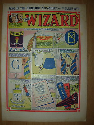 VINTAGE BOYS COMIC THE WIZARD No 1460 FEBRUARY 6th 1954