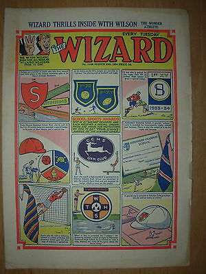 VINTAGE BOYS COMIC THE WIZARD No 1466 MARCH 20th 1954
